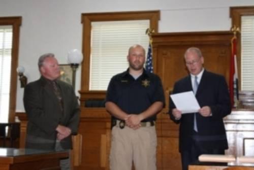 Judges presenting award